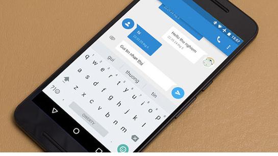 Xóa dữ liệu bàn phím trên điện thoại Android