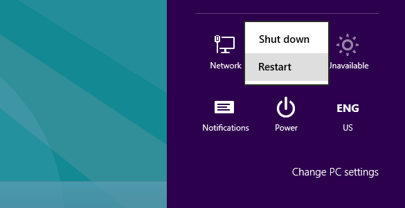 Khởi động lại máy tính