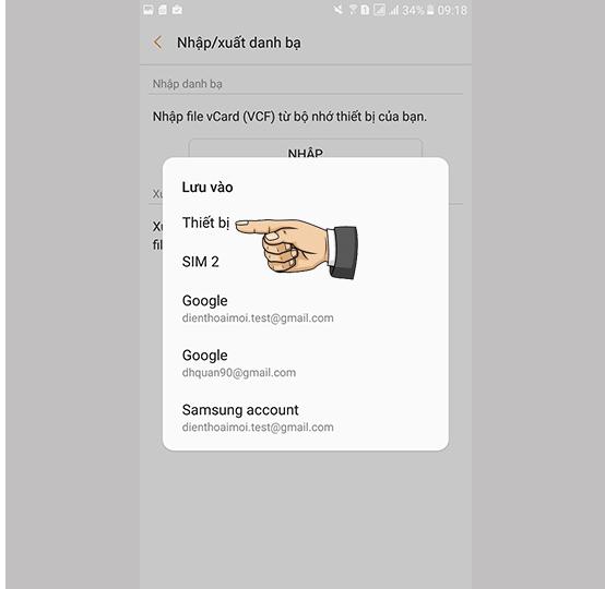 Chuyển danh bạ từ SIM qua máy android