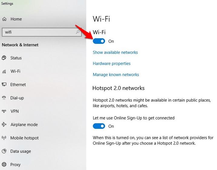 khắc phục Wifi laptop bị dấu x đỏ