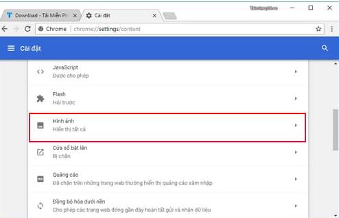 Khắc phục lỗi không hiển thị hình ảnh trên trang web trên Google Chrome