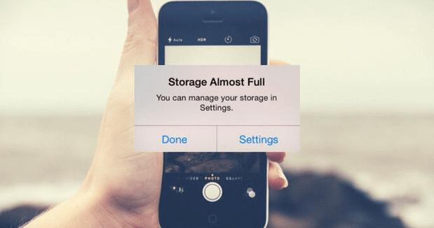 Lỗi iPhone báo dung lượng bộ nhớ ảo