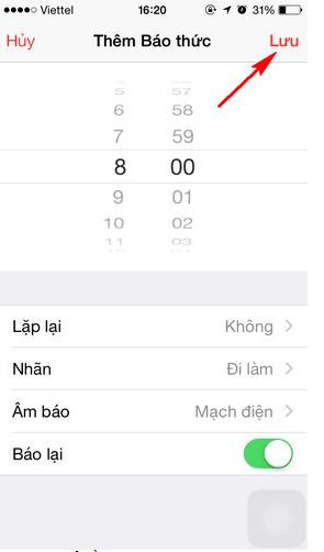 đồng hồ báo thức nhiều lần iPhone