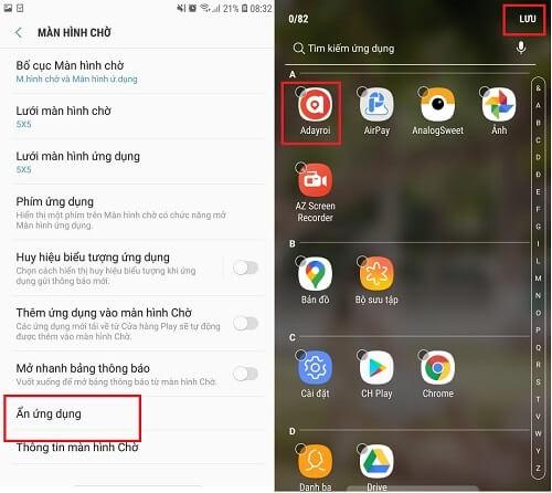 Cách mở ứng dụng ẩn trên Samsung