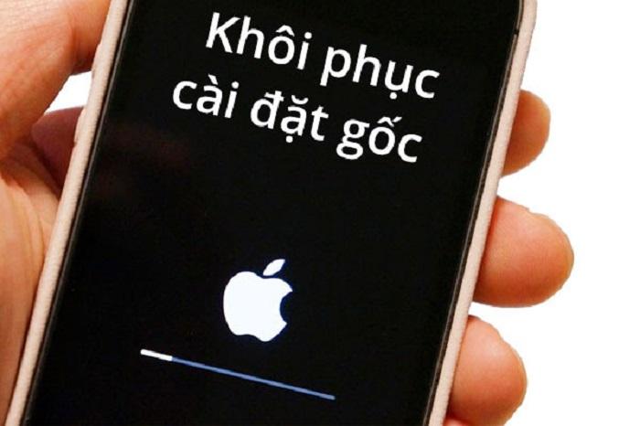 Khôi phục cài đặt gốc cho iPhone