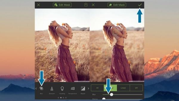 Cách làm mờ phông ảnh trên iPhone