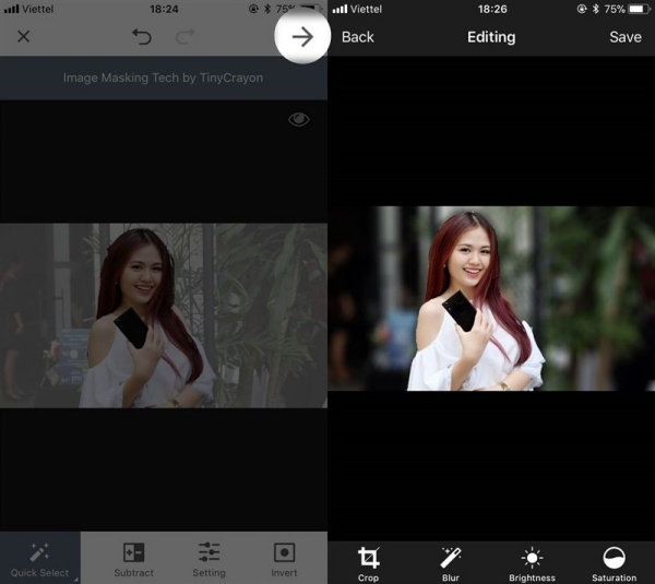 Làm mờ phông ảnh với ứng dụng Làm mờ phông ảnh với ứng dụng Focus Effect