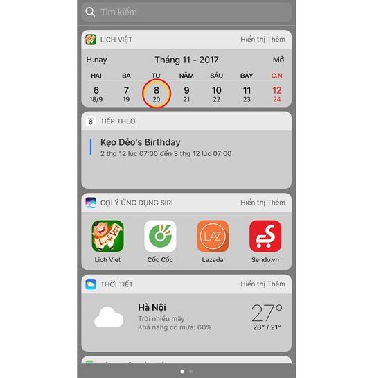 Cách cài lịch âm trên iPhone với Widget