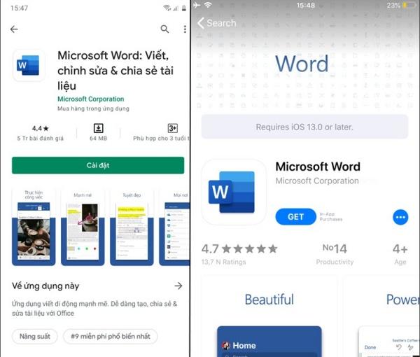Tải về ứng dụng hỗ trợ mở file Word