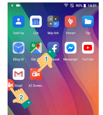 Quay màn hình Oppo với ứng dụng hỗ trợ